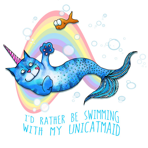 id-rather-be-swimming-with-my-unicatmaid