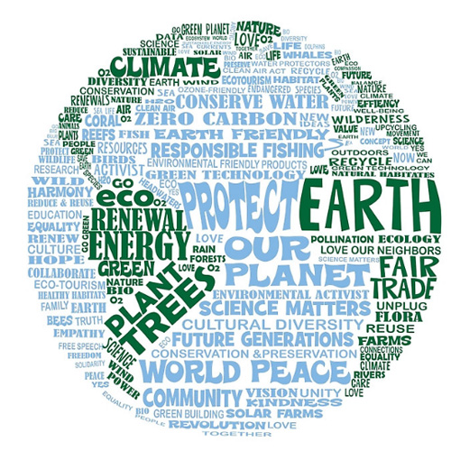 Protect Earth Word Design