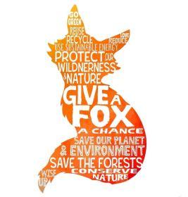 Fox - Give a Fox a Chance Silhouette word bubble